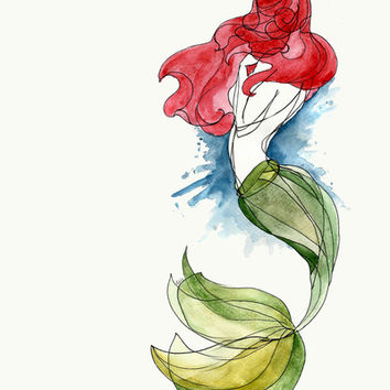 Little Mermaid Art Print by Ines92
