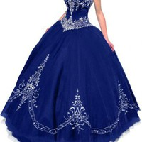 Gorgeous Bridal Retro Princess Tulle Ball Gown Quinceanera Dress Strapless