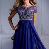 Royal Blue  Formal Evening Party Dresses Pageant Prom Dress Gown