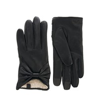 ASOS Leather Touch Screen Bow Gloves