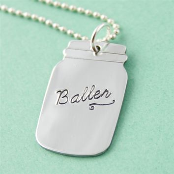 Baller Mason Jar Necklace - Spiffing Jewelry