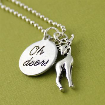 Oh Deer! Necklace - Spiffing Jewelry