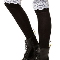 The Enchanted Over the Knee Socks in Black
