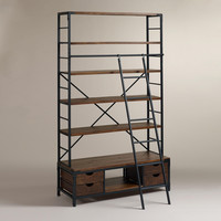 Metal Bookcase and Ladder - World Market