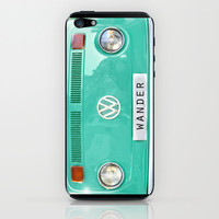 Wander wolkswagen. Summer dreams. Green iPhone & iPod Skin by Guido Montañés