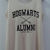 Hogwarts Alumini Tshirt Pop Punk Rock Tank Top