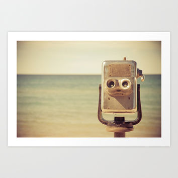 Robot Head Art Print by Olivia Joy StClaire