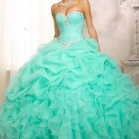 2014 New Pink Quinceanera Formal Prom Dress Ball Gown party evening Custom Size