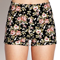 High-Waisted Floral Shorts | FOREVER21 - 2000127151