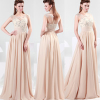 New Long Evening Formal Bridesmaid Wedding Ball Gown Prom Party Dresses IN 2~16
