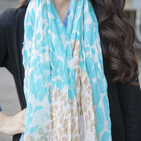 Two Tone Animal Print Scarf