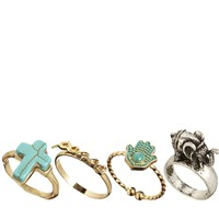 Pull&Bear Four Pack Rings