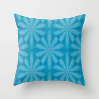 Blue Diamond Throw Pillow by Laura Santeler