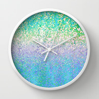 Summer Rain Revival Wall Clock by Lisa Argyropoulos
