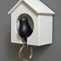 Black Bird Keyring and House Set