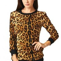 Long Sleeve Leopard Print Sweater