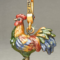 "Jay Strongwater - ""Eli"" Rooster Charm - Horchow"