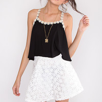 Swift Floral Skirt - White