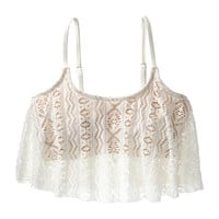Xhilaration® Junior's Swim Top -Ivory