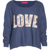 Cara Floral Woven Applique Oversize Sweater