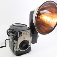 Reading Lamp - Task Lamp - Kodak Brownie Bull's Eye Vintage Camera