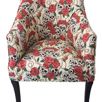 Skull Rose Tub Chair