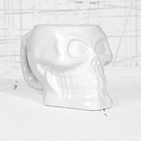 Skull Mug in White - Urban Outfitters