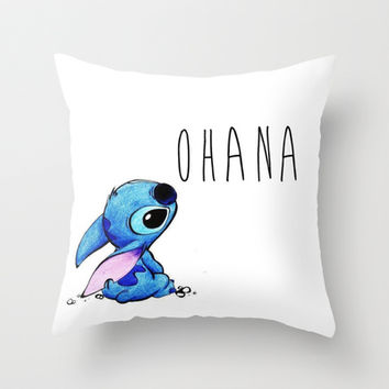 Ohana Throw Pillow by hayimfabulous
