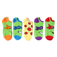 Teenage Mutant Ninja Turtles Classic No-Show Socks 5 Pair