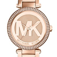 Michael Kors 'Parker' Logo Dial Bracelet Watch, 39mm