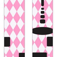 Custom Nike Elites Pink Argyle Pattern