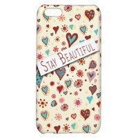 Stay Beautiful - Cute Love Hearts - Romantic Valentine's iPhone 5C Case