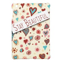 Stay Beautiful - Cute Love Hearts - Romantic Valentine's iPad Mini Case