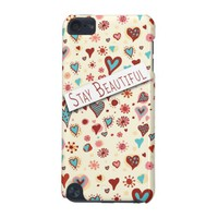 Stay Beautiful - Cute Love Hearts iPod Touch Case