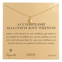 Dogeared 'Accomplish Magnificent Things' Boxed Pendant Necklace