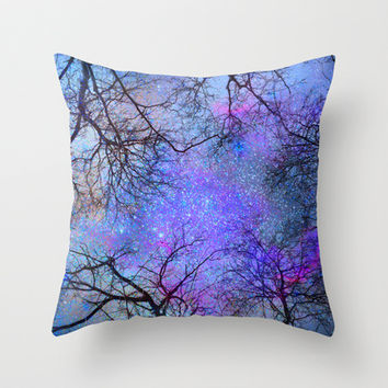 Sky dreams. Serial. Blue Throw Pillow by Guido Montañés