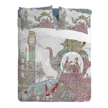 Belle13 4 O Clock Tea London Map Sheet Set