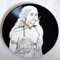 Game of Thrones - Daenerys Targaryen vinyl record clock