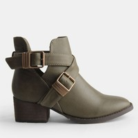 Bronco Buckled Ankle Boots