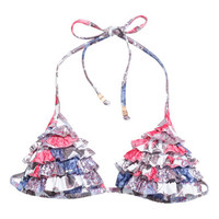 H&M - Bikini Top - Pink/Patterned - Ladies