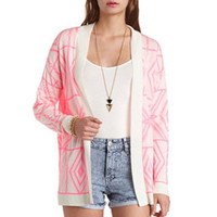 NEON AZTEC CARDIGAN SWEATER