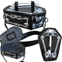 BAG O BONES COFFIN PURSE