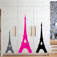 EIFFEL TOWER Paris Theme Vinyl Wall Decal Designs Decor Girls Bedroom Nursery ♥
