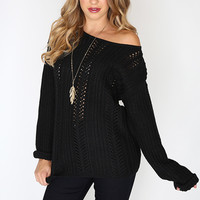 Midnight Knit Sweater - Black