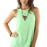 Key Lime Cutout Tank
