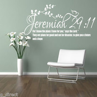 Jeremiah 29:11 Bible Quote Christian Wall Sticker Inspirational Vinyl Decal Art