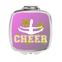 Cheerleader Pink Square Compact Mirror