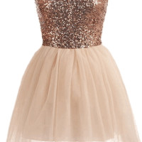 Bronze Ballerina Dress | HGD75