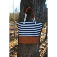Salty Seas Bag-Navy