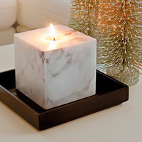 Marble White, Glow candles, Scented, Elegant, luxury gloss